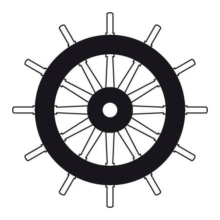 Steurrad Symbol SOLAS